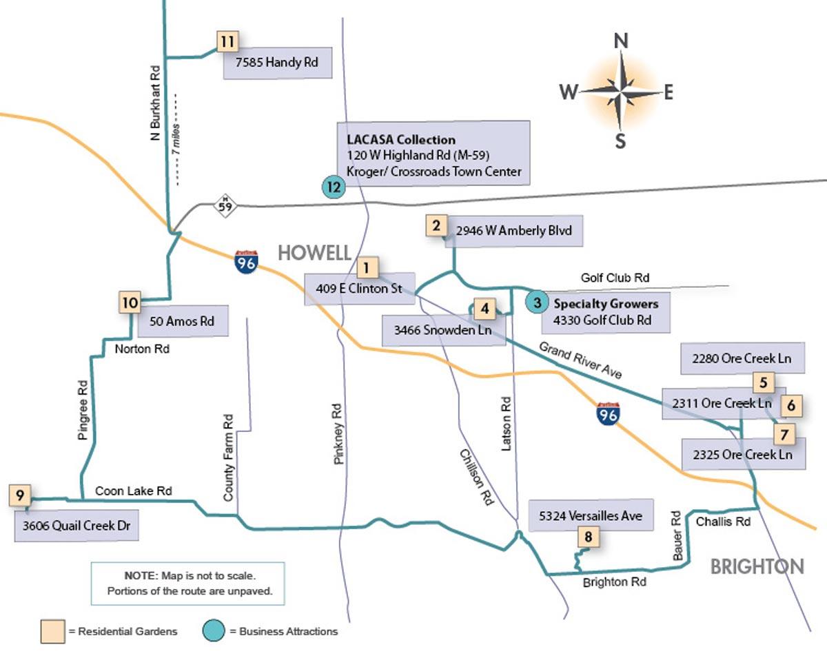 LACASA's Garden Tour Map 2021